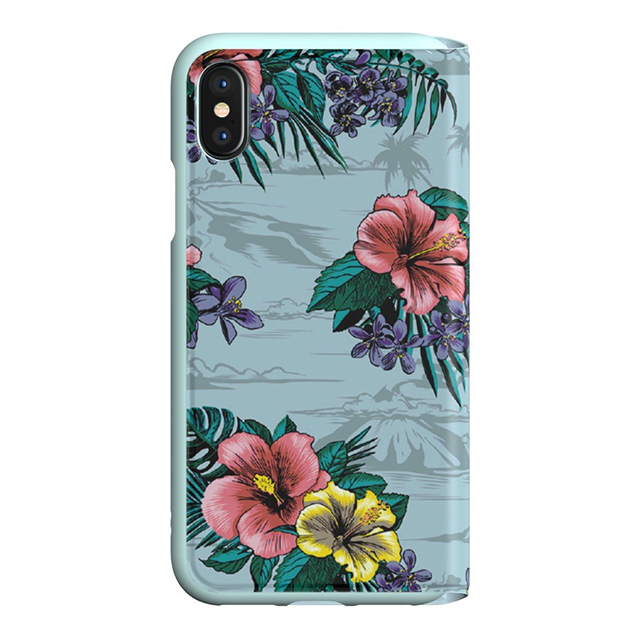 【iPhoneXS/X ケース】Booklet Case (Floral/Ash Grey)サブ画像