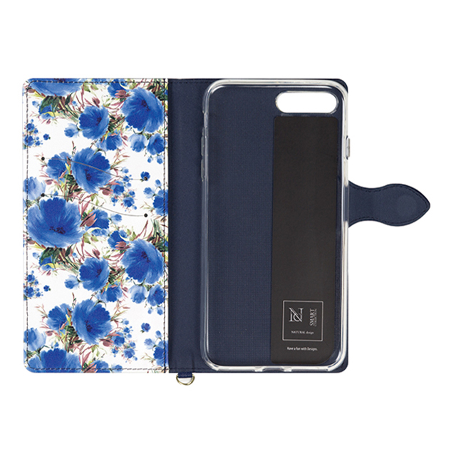 【iPhone8 Plus/7 Plus ケース】Fleur (Navy)