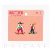 APPLIQUE COUPLE (CHIBI スケボー)