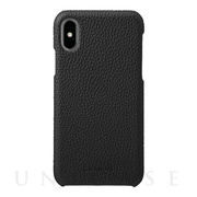 【iPhoneX ケース】Shrunken-calf Shell Leather Case (Black)