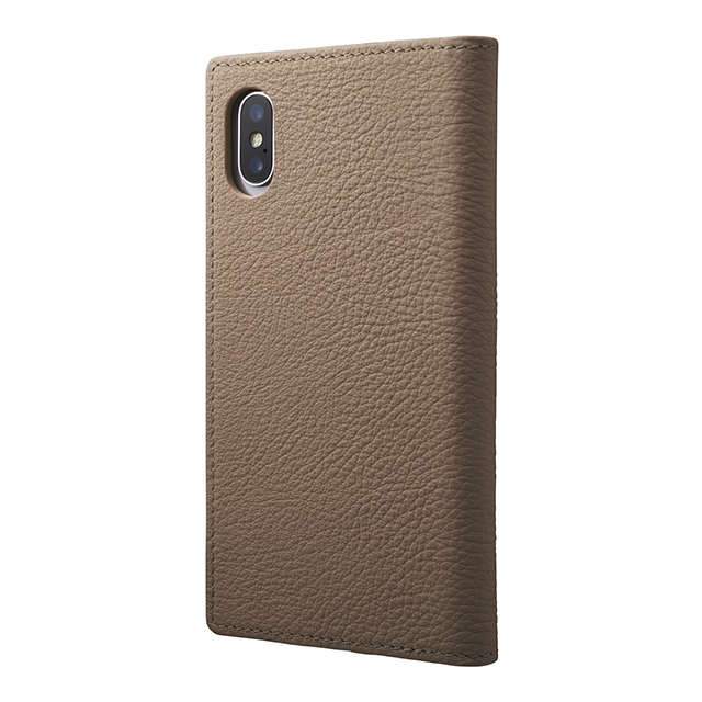 【iPhoneXS/X ケース】Shrunken-calf Full Leather Case (Taupe)サブ画像