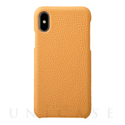 【iPhoneX ケース】Shrunken-calf Shell Leather Case (Yellow)