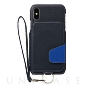 【iPhoneXS/X ケース】Leather Case (Ursula Blue)