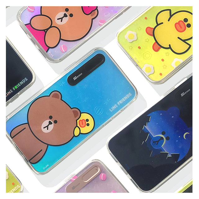 【iPhoneX ケース】LINE FRIENDS LIGHT UP CASE (チョコマカロン)