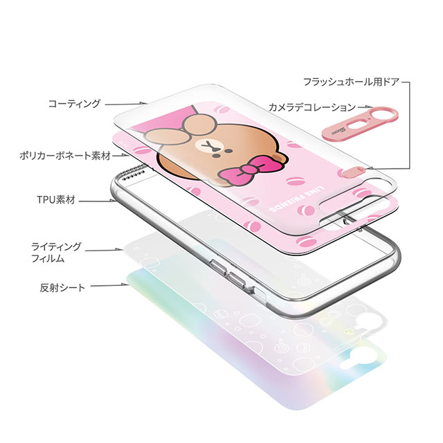 【iPhone8 Plus/7 Plus ケース】LIGHT UP CASE (チョコマカロン)