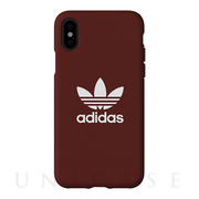 【iPhoneXS/X ケース】adicolor Moulded Case (Maroon)