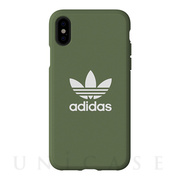 【iPhoneXS/X ケース】adicolor Moulded Case (Trace Green)