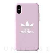 【iPhoneXS/X ケース】adicolor Moulded Case (Clear Pink)