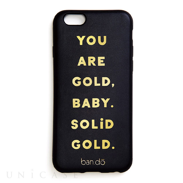 【iPhone8/7/6s/6 ケース】背面型ケース/ban.do (Solid gold)