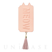 【iPhoneXR ケース】Tassel Tail Cat for iPhoneXR (Pink)