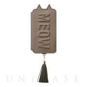 【iPhoneXR ケース】Tassel Tail Cat for iPhoneXR (Gray)