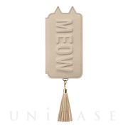 【iPhoneXR ケース】Tassel Tail Cat for iPhoneXR (Beige)