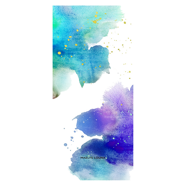 【iPhoneXR ケース】Louna Collections watercolor for iPhoneXR (night)サブ画像