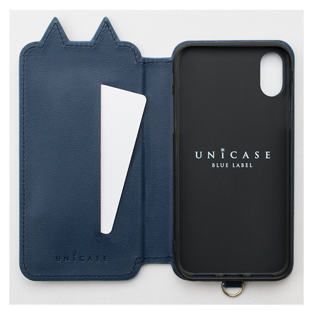 【iPhoneXS/X ケース】Tassel Tail Cat for iPhoneXS/X (Navy)サブ画像
