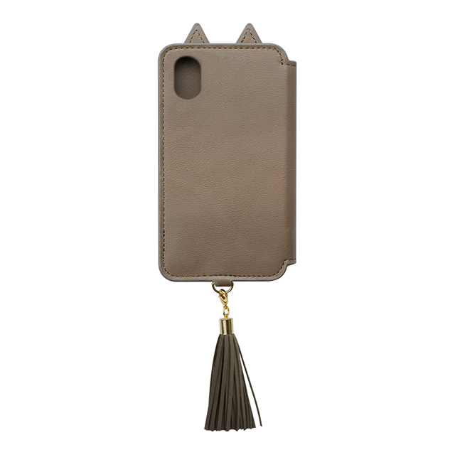 【iPhoneXS/X ケース】Tassel Tail Cat for iPhoneXS/X (Gray)goods_nameサブ画像