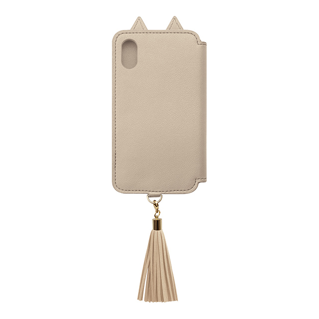 【iPhoneXS/X ケース】Tassel Tail Cat for iPhoneXS/X (Beige)サブ画像