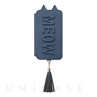 【iPhoneXS/X ケース】Tassel Tail Cat for iPhoneXS/X (Navy)