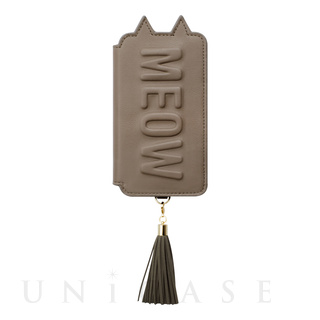 【iPhoneXS/X ケース】Tassel Tail Cat for iPhoneXS/X (Gray)