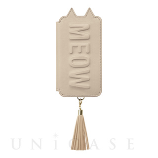 【iPhoneXS/X ケース】Tassel Tail Cat for iPhoneXS/X (Beige)