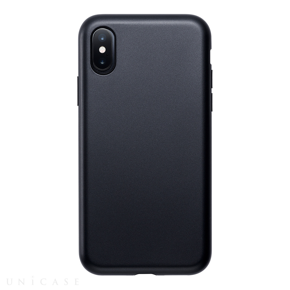 【iPhoneXS/X ケース】Smooth Touch Hybrid Case for iPhoneXS/X (Iron Black)