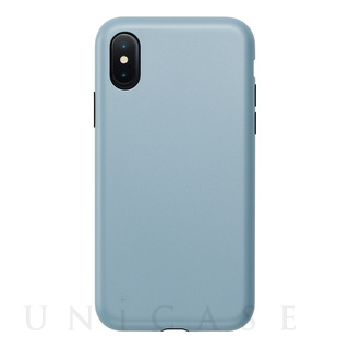 【iPhoneXS/X ケース】Smooth Touch Hybrid Case for iPhoneXS/X (Stone Blue)
