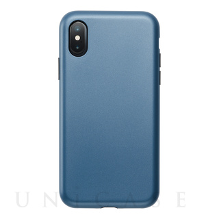UNiCASE(ユニケース) 【iPhoneXS/X ケース】Smooth Touch Hybrid Case for iPhoneXS/X (Azure Blue)