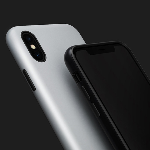【iPhoneXS/X ケース】Smooth Touch Hybrid Case for iPhoneXS/X (Iron Black)サブ画像