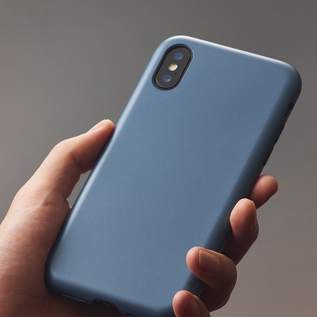 【iPhoneXS/X ケース】Smooth Touch Hybrid Case for iPhoneXS/X (Azure Blue)サブ画像