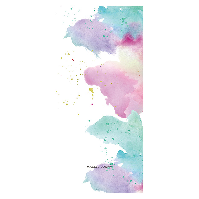 【iPhoneXS/X ケース】Louna Collections Water Color for iPhoneXS/X (pale) 壁紙