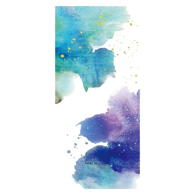 【iPhoneXS/X ケース】Louna Collections Water Color for iPhoneXS/X (night) 壁紙
