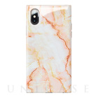 【iPhoneXS/X ケース】Maelys Collections Marble for iPhoneXS/X (Pink)