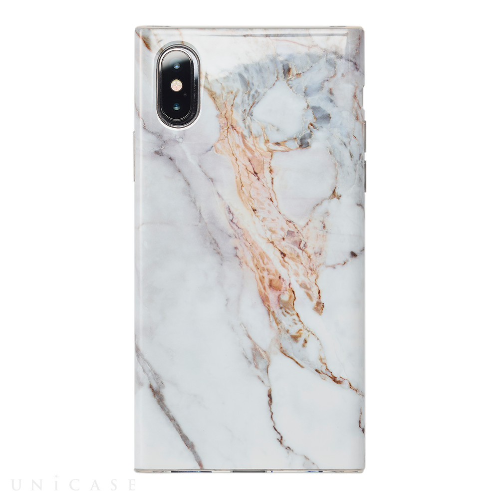 【iPhoneXS/X ケース】Maelys Collections Marble for iPhoneXS/X (White)