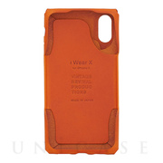 【iPhoneXS/X ケース】iWearX (Orange)