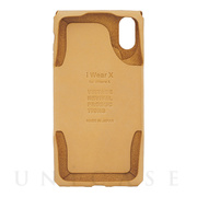 【iPhoneXS/X ケース】iWearX (Natural)