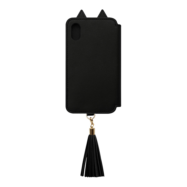 【iPhoneXS/X ケース】Tassel Tail Cat for iPhoneXS/X (Black)サブ画像