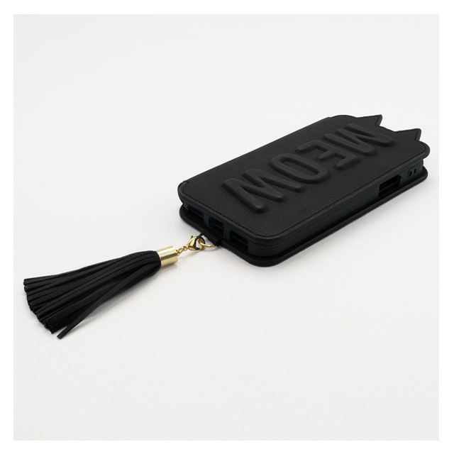 【iPhoneXS/X ケース】Tassel Tail Cat for iPhoneXS/X (Black)