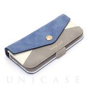 3ce4eae9f9 【iPhoneSE/5s/5 ケース】ダブルフリップカバー レター型ポケット (ブルー