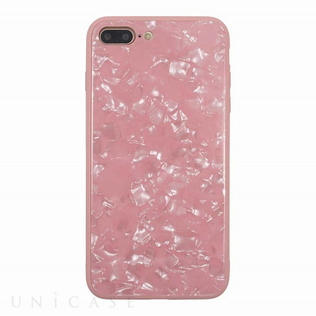 【iPhone8 Plus/7 Plus ケース】GLASS PEARL CASE (Pink)