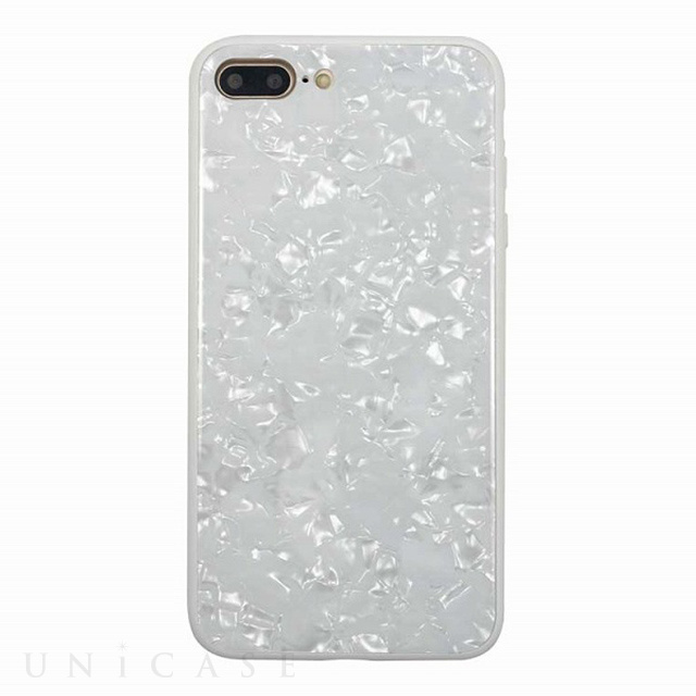 【iPhone8 Plus/7 Plus ケース】GLASS PEARL CASE (White)