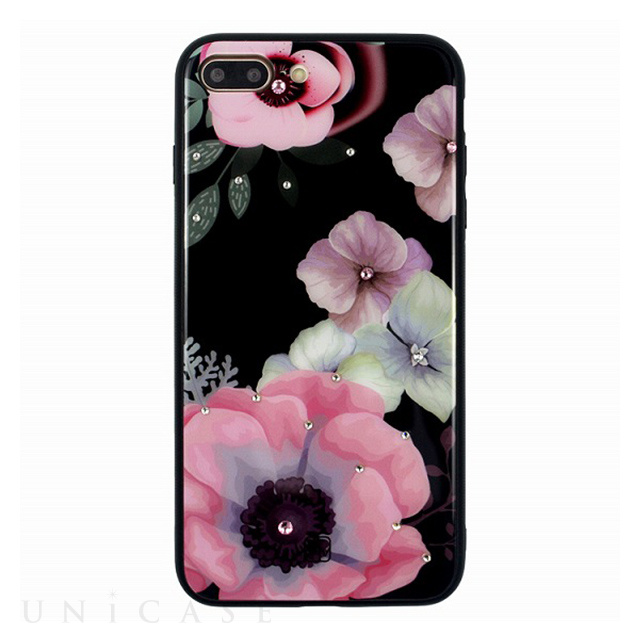 【iPhone8 Plus/7 Plus ケース】GLASS DESIGN CASE (Anemone)