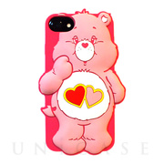 【iPhone8/7/6s/6 ケース】Care Bears シリコンケース (LOVE A LOT BEAR)
