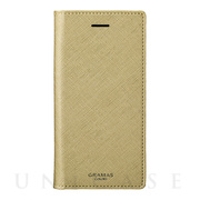 "【iPhone8/7/6s/6 ケース】""Quadrifoglio"" Book PU Leather Case (Champagne Gold)"