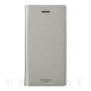 "【iPhone8/7/6s/6 ケース】""Quadrifoglio"" Book PU Leather Case (Platinum Silver)"