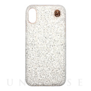 【iPhoneXS/X ケース】GLITTER CHAIN CASE (White)