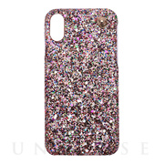 【iPhoneXS/X ケース】GLITTER CHAIN CASE (Multi)