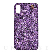 【iPhoneXS/X ケース】GLITTER CHAIN CASE (Purple)
