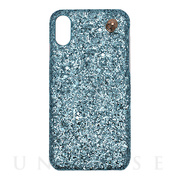 【iPhoneXS/X ケース】GLITTER CHAIN CASE (Ariel Blue)