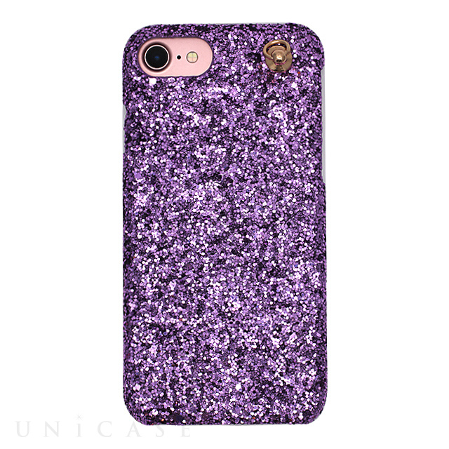 【iPhone8/7/6s/6 ケース】GLITTER CHAIN CASE (Purple)