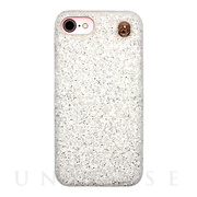 【iPhone8/7/6s/6 ケース】GLITTER CHAIN CASE (White)