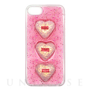 【iPhone8/7/6s/6 ケース】GLITTER 3HEART CASE (Light Pink)